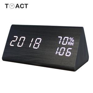 LED Wooden Alarm Clock Despert