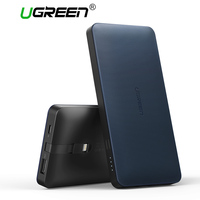 Ugreen 10000mah Power Bank Portable External Battery Powerbank With Charging Cable For Android And IOS Mobile