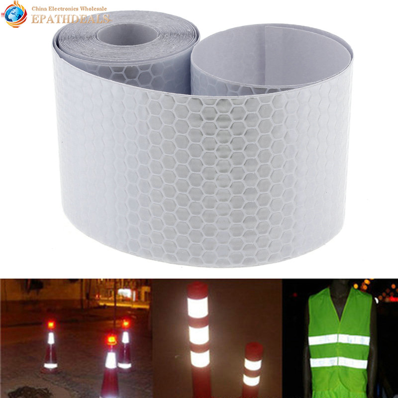 2pcs! Motorcycle Car Decoration Stickers Decal Reflective Film Auto Styling For Automobiles Safe Material Safety Warning Tape