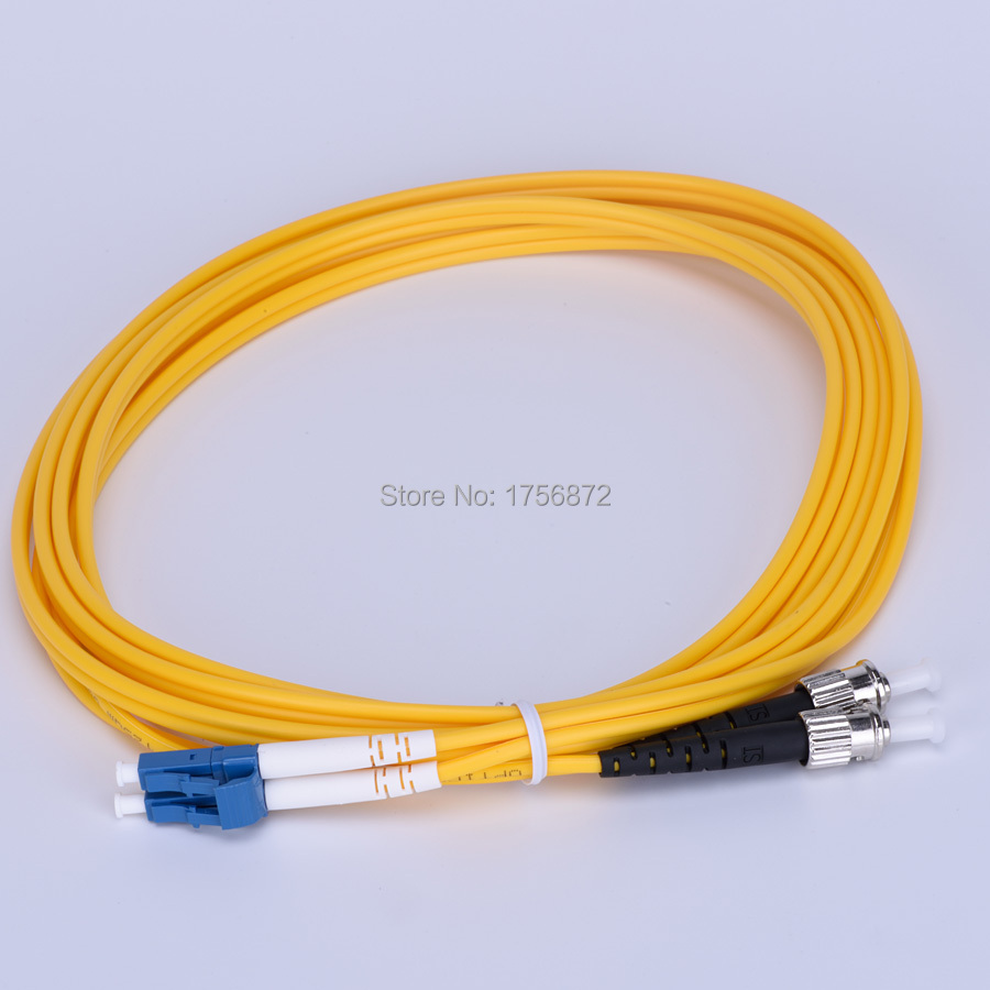 Duplex Singlemode 90/125 Fiber Optic Patch Cord LC to SCT 15M Optical Cable