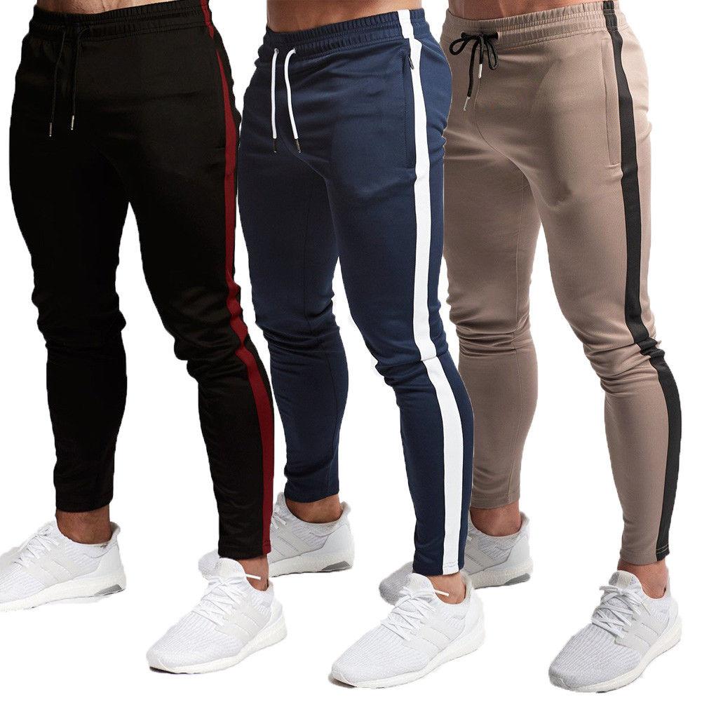 Men's Jogger Pants Fashion Sports Gym Workout Hip Hop Track Trousers Long Slacks