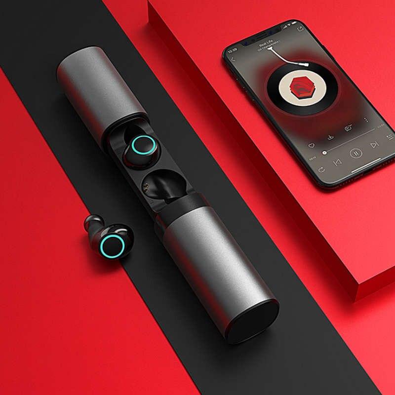 T6 Binaural Bluetooth casque Mini sans fil sport écouteurs bouchons d'oreilles Invisible réduction de bruit étanche dans l'oreille Tws écouteurs