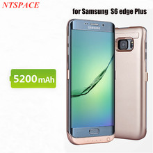 Portable For Samsung Galaxy S6 edge Plus G9280 Power Bank Charger Case 5200mAh External Battery Charger Cases Power bank Cover