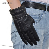 Wholesale Male Winter Plus Size Plus Velvet Thicken Men S Goatskin Leather Gloves Leather Warm Genuine