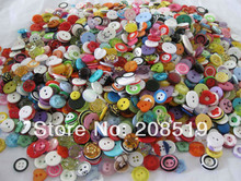 Resin Buttons Mix 100pcs DIY Craft Button Assorted children clothes buttons colorful