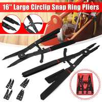 2Pcs 16 inch Large Circlip Snap Ring Pliers Set Ring Remover Retaining Circlip Pliers Ratcheting For Workshop DIY Home Tool