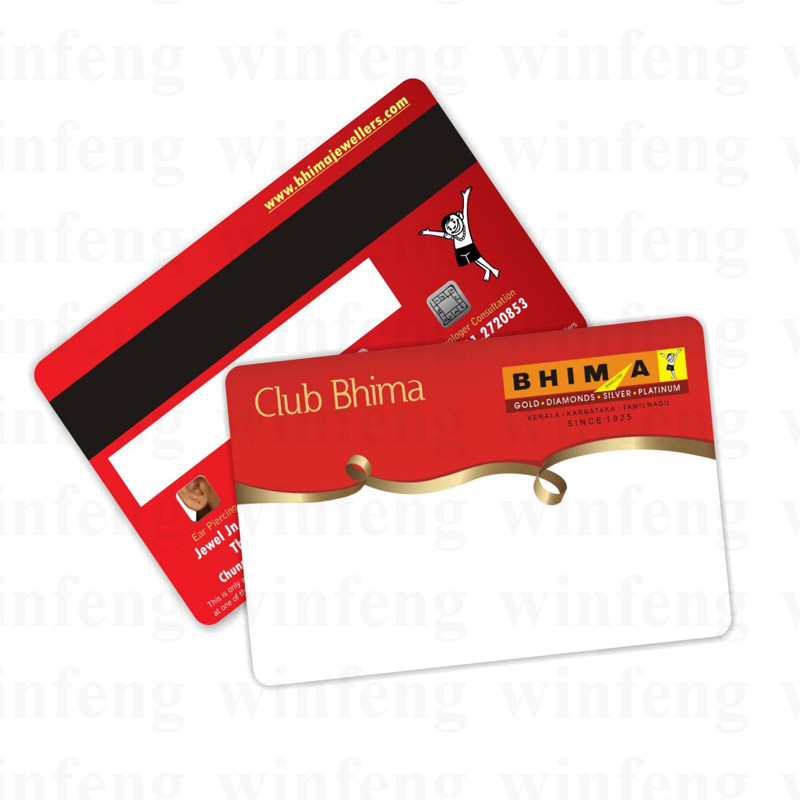 500pcs/lot Customized CMYK Double Side Printing HICO LOCO Plastic Magnetic Card with Signature Panel for Hotel