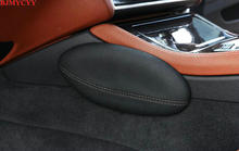 BJMYCYY Leather Leg Cushion Knee Pad Thigh Support Pillow Interior Car Accessories for BMW E46 E39 E60 E90 E36 F30 F10 X5 Z4