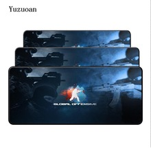 Yuzuoan Free Shipping 800*300*2 large gaming lock Edge mouse pad for CS GO game mousepad XL gamer Mouse Desk Mat birthday