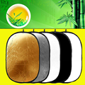 "5 in 1 Portable Light Collapsible Reflector 100x150cm /40""x60"" For Studio Photography Multi Photo Disc Lighting Round Reflectors"
