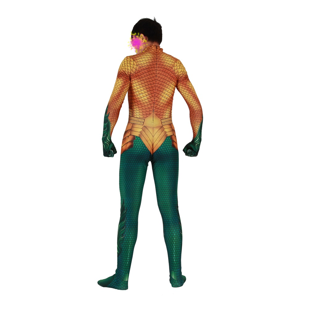 Movie Aquaman Cosplay Costume Superhero Arthur Curry Orin Zentai Bodysuit Suit Jumpsuits