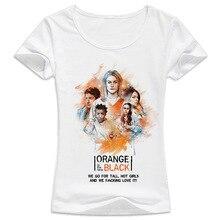 orange is the new black Hot sale summer t-shirt women Harajuku kwaii girl T shirt O-neck White tshirt female tumblr WT631