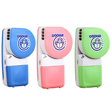 Free shipping USB Hand-held Air Condition Pink Portable Air Conditioner Gray Bladeless Cooler Blue Mini Fan With Lithium Battery