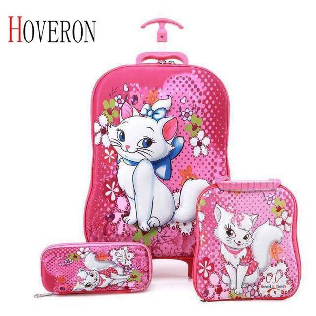 Children Anime Travel Trolley Case Kids Travel 3PCS/set Suitcase Boy Girl Creative Cartoon Pencil Box Children Christmas Gift 1
