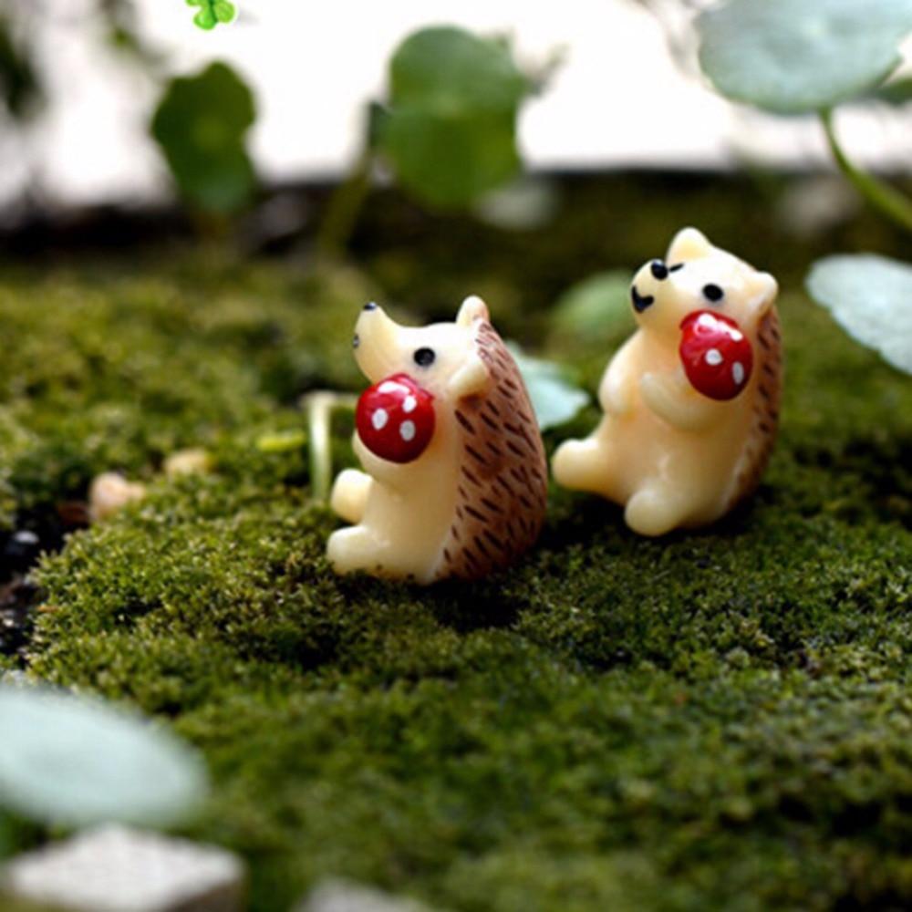 Antique Mushroom Fairy Garden Miniatures Mini Gnomes Mossterrariums Resin Crafts Figurines Garden Figurines Mini Hedgehog Mushroom Fairy Garden Miniatures Mini Gnomes Mini Hedgehog