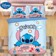 Disney Stitch Boys Bedding Sets Twin Full Queen King Cartoon Quilt Cover Pillowcase  Duvet Set Children Bed Gift