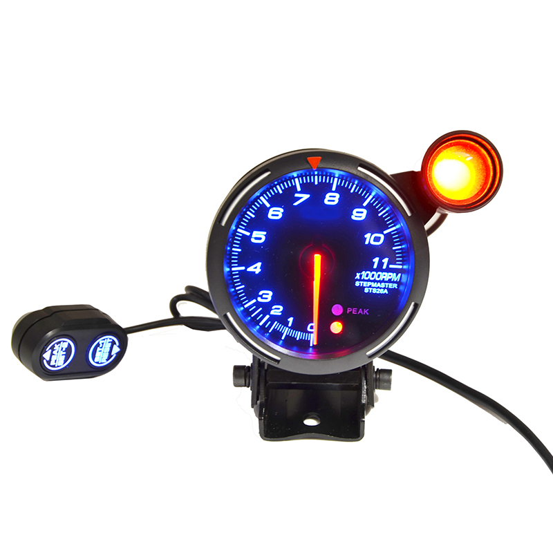 80mm Car RPM Tachometer 0 11000RPM With Shift Light Fit For 1 to 8 cylinders With Logo-in Tachometers from Automobiles & Motorcycles    3