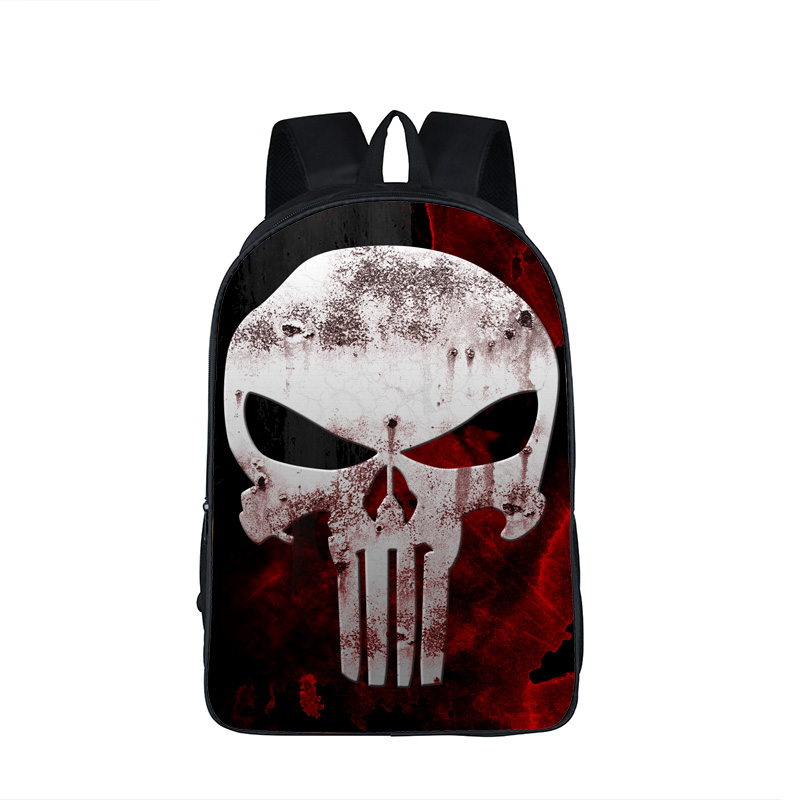 Comic Hero Punisher / Captin America / Spiderman / Ironman Backpack For Teenage Boys Kids School Bags Children School Backpack oreimo comic anthology