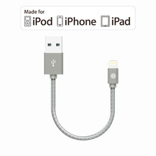 OPSO 15cm MFi Certified 8 Pin Cable Data Wire for iPhone 6 6s 5s 7 7plus iPad Mini/Air iOS 8/9/10 Lifelong Use