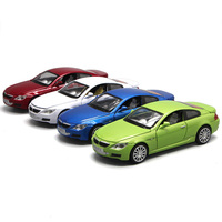 For B.MW M6 Alloy Car Model Light Music Pull Back Four Open Doors Design Children's Toy Car Adult Car Model Diecast Collection