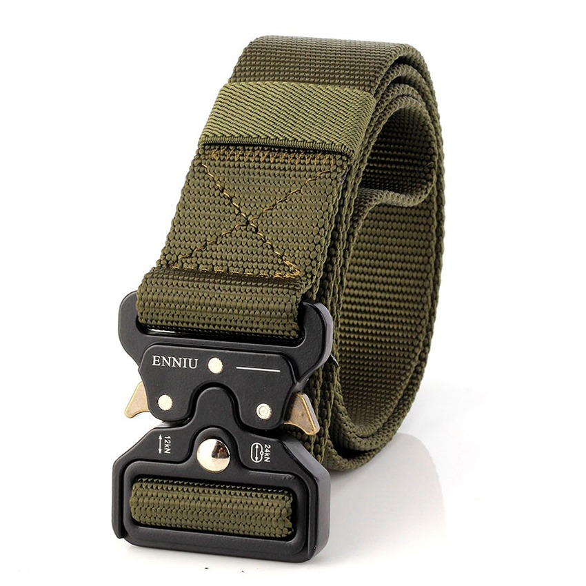 Apparel Accessories Cooperative Army Military Style Combat Belt Desert Camouflage Army Green Quick Release Men Canvas Waistband Outdoor Hunting Accessories Belt