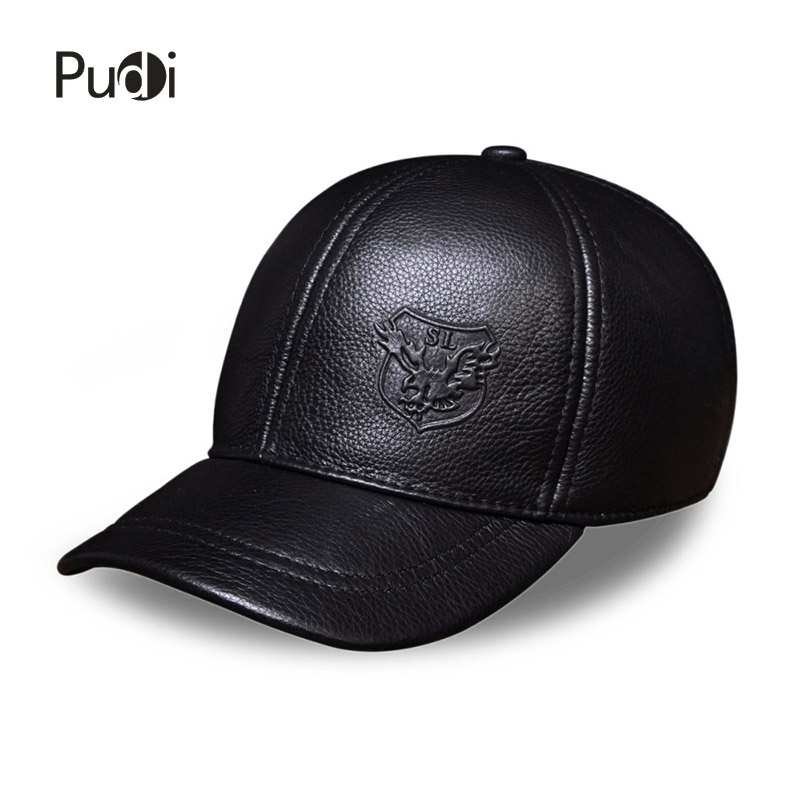 HL125 Spring free shipping genuine leather baseball cap in men brand new warm real cow leather caps hats aorice autumn winter men caps genuine leather baseball cap brand new men s real cow skin leather hats warm hat 4 colors hl131