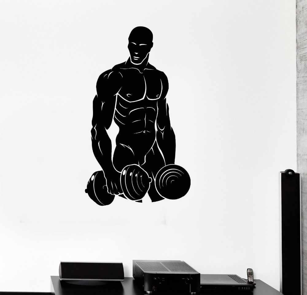 Gym Berotot Pria Olahraga Kebugaran Binaraga Gym Art Wall