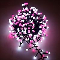 3M 400 Milky Ball Firecracker LED String Light Rattan Branch W/ Globe Ball Fairy Light For New Year Christmas Decoration