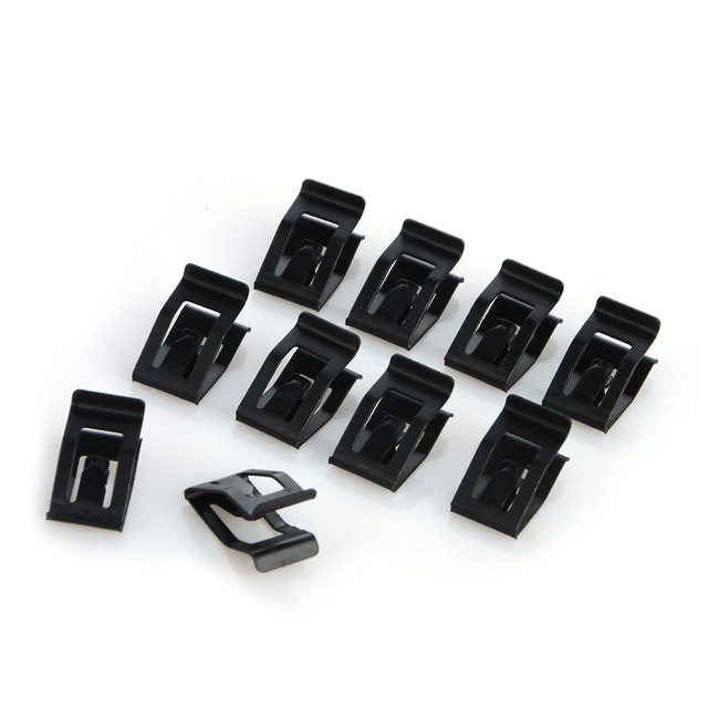 20Pcs Black Universal Auto Car Front Console Dash Dashboard Trim Metal Retainer