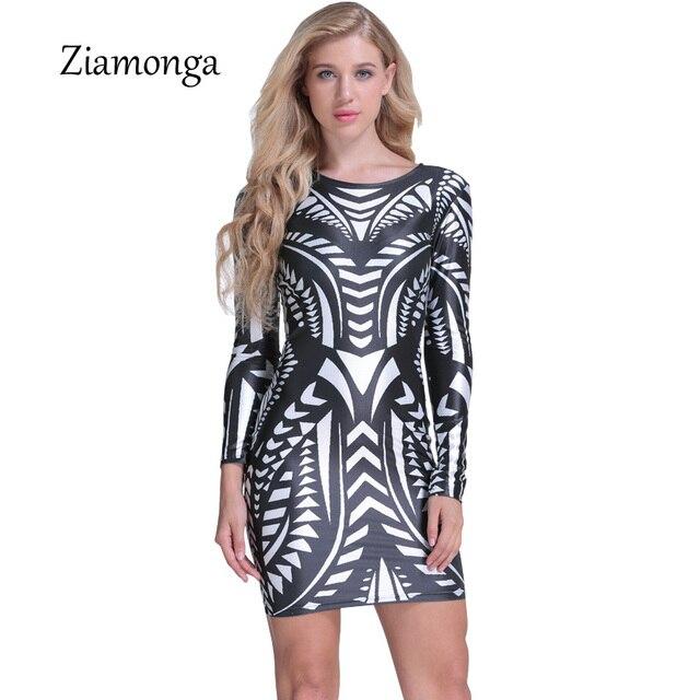 Ziamonga 2017 Neueste Trends Fashion Digitaldruck Kleid Büro Kleid ...