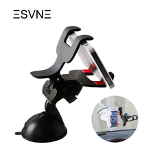 ESVNE Car phone holder 360 Degree rotation phone Stand Windshield Mount Bracket with Suction Cup for mobile phone car holder