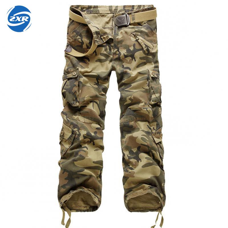 Men Outdoors Hunting Camp Tactical Military Camouflage Trouser Male Autumn Outdoor Multi-pockets Hike Climbing Pants