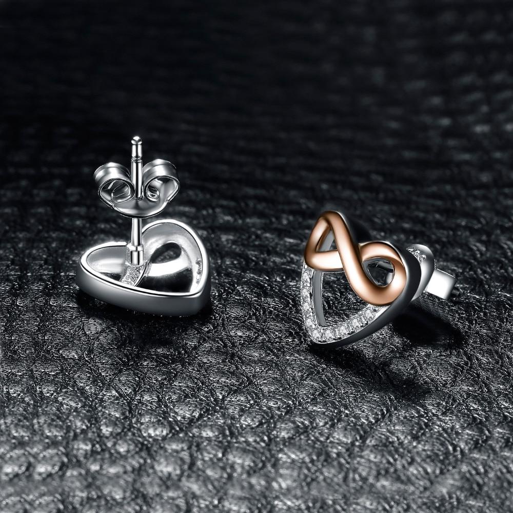 cb1a3cfea769 JewelryPalace Infinity Heart Earrings Cubic Zirconia 925 Sterling Silver  Stud Earrings Gifts For Womne Anniversary Fine Jewelry-in Earrings from  Jewelry ...