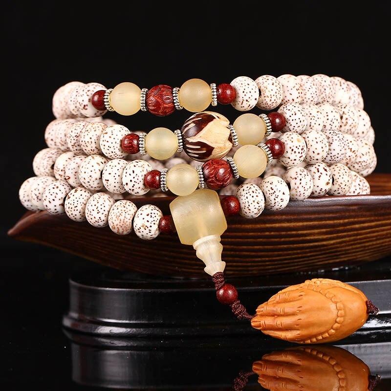 D'olivier naturel bergamote Hainan Bodhi 108 Bracelet Gaomigan porter des bracelets et Pu Tizi