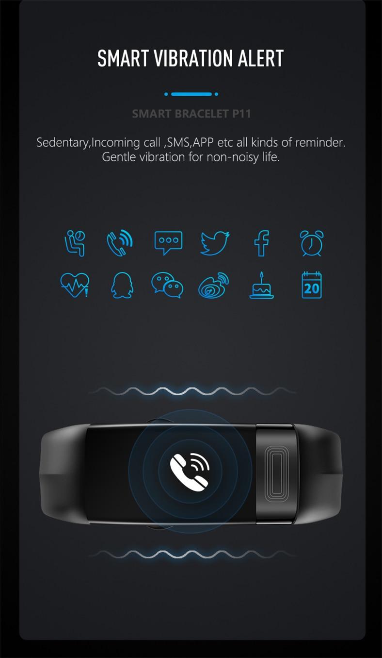 HTB1f0hvQmzqK1RjSZFjq6zlCFXal P11 Smart Bracelet Sport Smart Watch Men Women Smartwatch ECG Bluetooth Wristband Heart Rate Monitor Call Message Reminder Band
