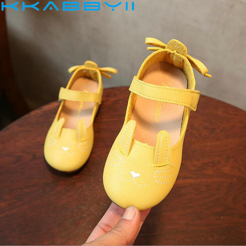 Hot New Children Fashion Single Shoes 2018 Spring Girls Princess Breathable Leather Shoes Kids Soft loafer Toddler Shoes