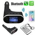 Universal Car Bluetooth Kit MP3 Player FM Transmitter Modulator Remote USB For SD Card For Phone
