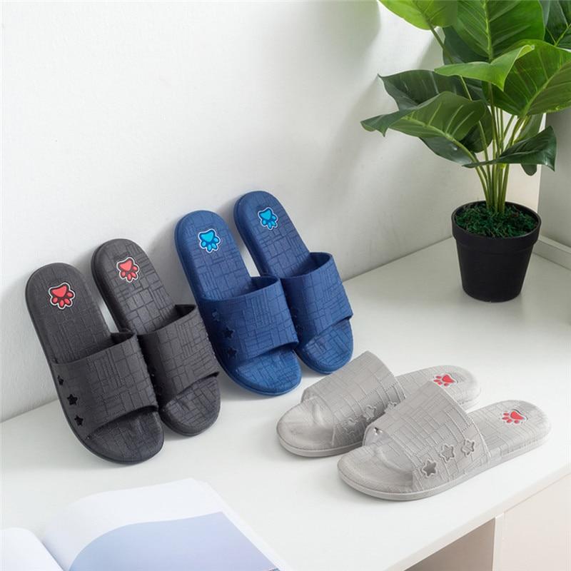 Men Lattice Flat Bath Slippers Summer Sandals Indoor & Outdoor Slippers Kapcie Terlik Mans Footwear 40ja30
