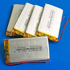 5 pcs 3.7V 1250mAh lipo polymer lithium rechargeable battery for GPS PDA DVD bluetooth recorder e-book camera 503562 5*35*62mm
