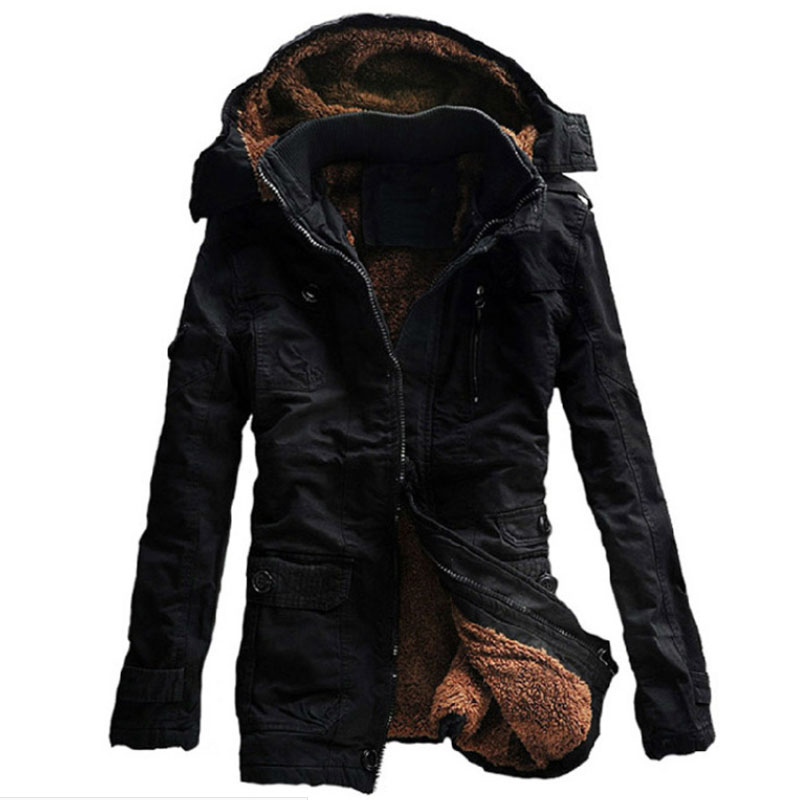 New Winter Jacket Men Hooded Thick Warm Parka Mens Breathable Warm OutdoorSport Coat Long Windproof Overcoat Plus Size M-5XL