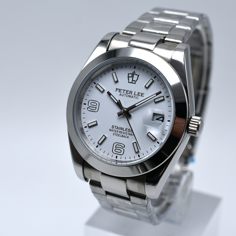 HTB1f0iYah1YBuNjy1zcq6zNcXXaa Silver Watch | Fashion PETER LEE Nautilus | Brand Luxury Full Steel Bracelet Waterproof Automatic Mechanical Business Clocks Classic Dial 38mm Mens Watch