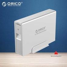 Orico алюминиевый 3.5 usb 3.0 внешний жесткий диск корпус super speed sata hdd док-станция для пк-серебро (7618us3)