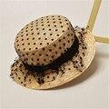 2016 puntos Chabot Lei malla de hilo niños sombrero nuevo arco sombrero de ala ancha de paja sombrero de Panamá