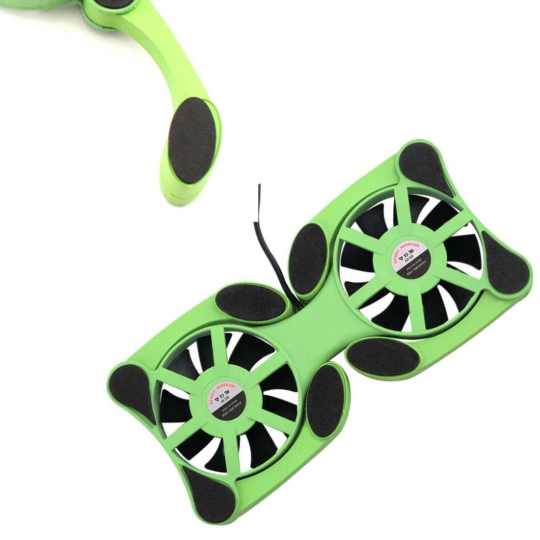Noyokere 1 шт. USB Порты и разъёмы Мини Осьминог Тетрадь Вентилятор Cooler Охлаждающая подставка для 7-15 дюймов ноутбука