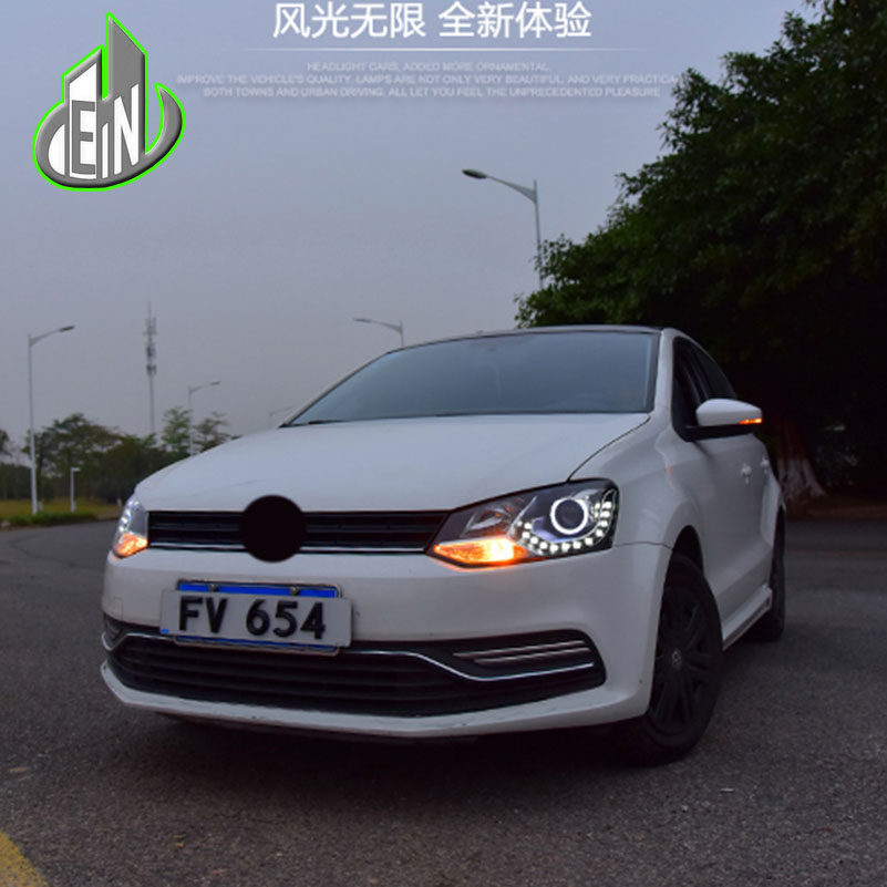 car styling head lamp for vw polo led headlight 2010 2016. Black Bedroom Furniture Sets. Home Design Ideas