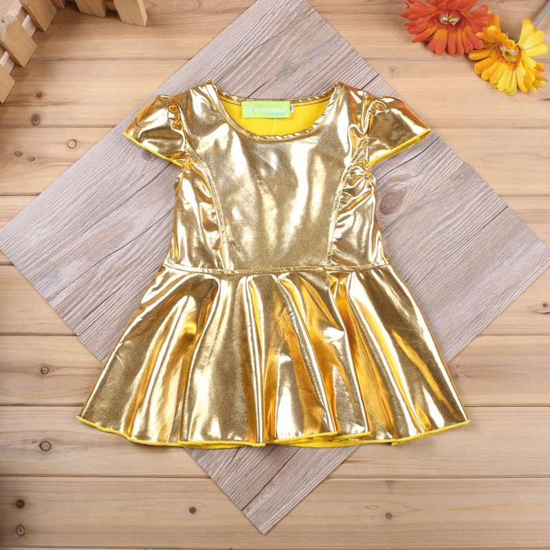 ebc9a5921f77 Girls clothes 2018 children clothing kids clothes 2pcs gold skirt t shirt