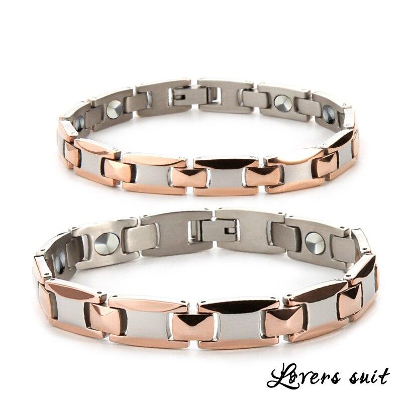 38 soins de santé énergie puissance TA2 titane Bracelet amoureux Bracelets pur Germanium hologramme Bracelets chaîne lien Bracelet