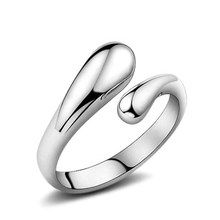 Promotion Fashion Woman Jewelry Genuine 925 Sterling Silver Smooth Figure Rings Adjustable Factory Price Opening Ring(China)