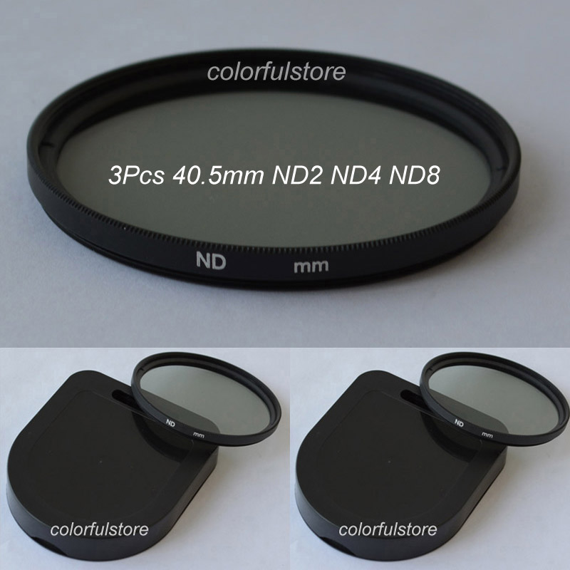 40.5 40.5mm 3Pcs ND Filter Neutral Density Lens Filters ND2 ND4 ND8 ND 2 4 8 For Canon Nikon Panasonic Leica Sigma Camera Lenses