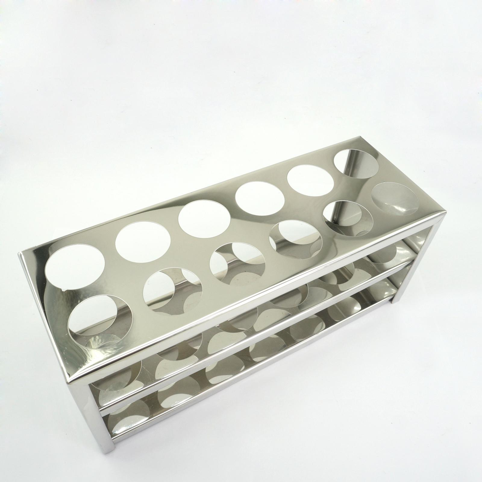 30mm Diam x 12 Holes Stainless Steel Test Tube Rack Holder Storage Lab Stand 13mm 40 holes wire professional test stainless steel tube rack suitable for test tube of diameter 10mm 11mm 12mm 13mm